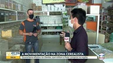 A movimentação na zona cerealista - Quarentena afastou os clientes, que voltam a fazer compras na região.