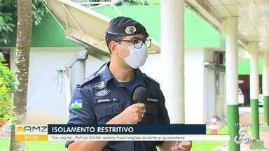 Como a polícia militar está fiscalizando em Porto Velho - O capitão da PM/RO explica como está sendo feita as fiscalizações neste período de isolamento restritivo.