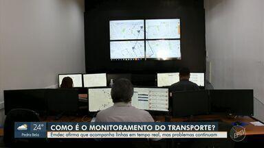 Veja como funciona o monitoramento das linhas de ônibus feita pela Emdec - A empresa afirma que acompanha linhas em tempo real, mas problemas de lotação continuam nos transportes públicos de Campinas (SP).