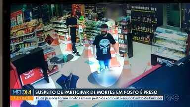 Suspeito de participar de mortes em posto é preso - Duas pessoas foram mortas em um posto de combustíveis, no Centro de Curitiba