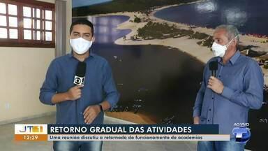 Em Santarém, reunião discute retomada de atividades de maneira gradual - Segundo o prefeito Nélio Aguiar, estabelecimentos apresentaram propostas.