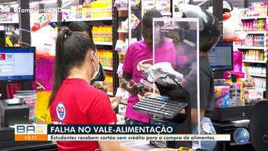 Estudantes denunciam receberem cartão sem crédito para a compra de alimentos - O auxílio, liberado pelo Governo do Estado, está apresentando dificuldades para ser usado.
