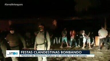 Número de denúncias de festas triplica, em Goiânia - Polícia tem acabado com eventos em vários pontos do estado.