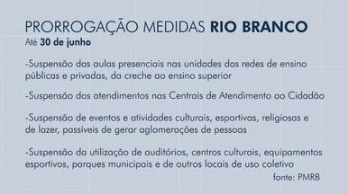 Prefeitura de Rio Branco prorroga medidas de combate à Covid-19 até dia 30 de junho - Prefeitura de Rio Branco prorroga medidas de combate à Covid-19 até dia 30 de junho