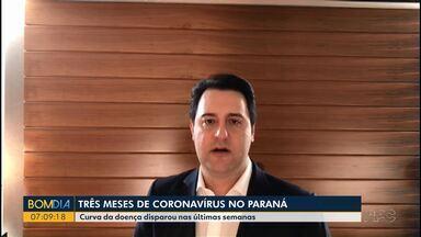 Paraná completa três meses de pandemia - Curva da doença disparou nas últimas semanas.