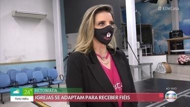 Igrejas evangélicas reabrem em São Paulo com medidas de segurança - Confira como está a adaptação das igrejas para a promoção dos cultos presenciais