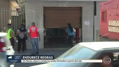 Ribeirão das Neves, na Grande BH, volta a fechar parte do comércio neste sábado - Com avanço dos casos da COVID-19, prefeitura decide fechar parte do comércio nos próximos dias