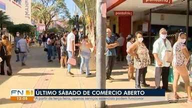 Comércio na região de Presidente Prudente volta a fechar a partir de terça-feira - Este sábado (13) é o último que as lojas estão abertas.