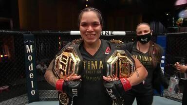 Brasileira faz luta no UFC na noite deste sábado - Neste sábado à noite tem luta pelo EFC ao vivo no Canal Combate. E, de novo, a luta principal é entre mulheres que cada vez mais têm uma brasileira como inspiração.