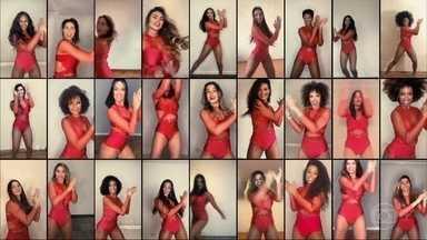 Bailarinas gravam uma nova vinheta para as Vídeocassetadas de casa - Confira