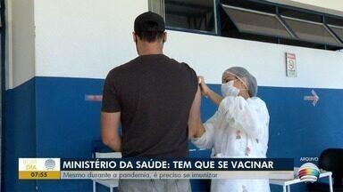 Ministério da Saúde ressalta importância da vacinação - Mesmo durante a pandemia é necessário manter imunização em dia.