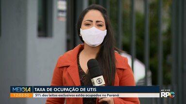 Curitiba registra 74% dos leitos de UTI ocupados pra Covid-19 - A média no estado é de 51% na taxa de ocupação