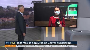 Londrina registra 45 mortes por Covid-19 - A cidade é a primeira cidade do interior do sul do país a atingir esse número de mortes por Covid-19