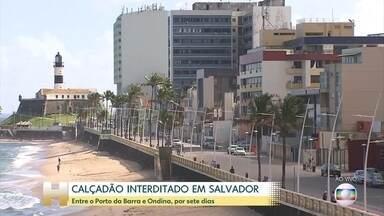 Em Salvador, Prefeitura decide fechar a orla da Praia da Barra por sete dias - Apenas moradores da Barra terão acesso, de carro. As praias da cidade estão fechadas e vão permanecer desse jeito pelo menos até o dia 30 de junho.