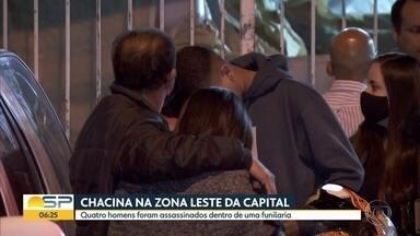 Chacina na Zona Leste na capital - Quatro homens foram assassinados dentro de uma funilaria.