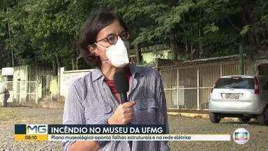 Diretora do museu da UFMG fala sobre o incêndio - Museu de História Natural da UFMG não tem auto de vistoria dos bombeiros