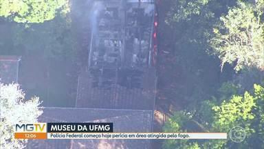 PF começa hoje perícia em área atingida por fogo no Museu de Hisória Natural da UFMG - A Universidade Federal de Minas Gerais deve montar uma comissão de professores e especialistas para avaliar os prejuízos