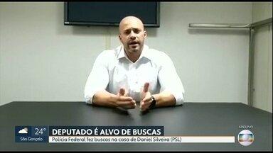 Deputado Daniel Silveira (PSL) é alvo de buscas da Polícia Federal - Inquérito da Procuradoria Geral da República investiga realização de atos antidemocráticos.