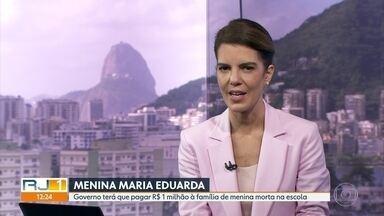 Indenização para família da menina Maria Eduarda - Governo do Estado terá que pagar R$ 1 milhão para família de menina que morreu dentro de escola, em 2017.