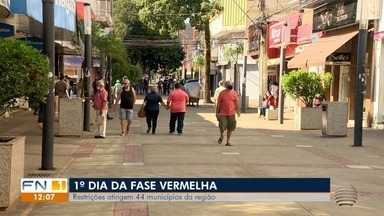 Restrições da fase vermelha atingem 44 municípios da região de Presidente Prudente - Primeiro dia foi nesta terça-feira (16).