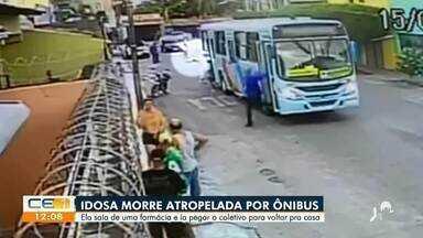 Idosa morre atropelada por ônibus - Saiba mais no g1.com.br/ce
