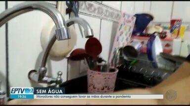 Moradores reclamam de falta d'água em Ribeirão Preto, SP - Problema acontece em bairro da zona Norte.