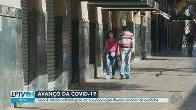 Médico infectologista diz que população deve redobrar os cuidados para evitar infecção - Ao todo, 62 cidades da área de cobertura da EPTV Ribeirão somam mais de 5 mil casos.