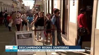 Mais de 800 notificações são aplicadas a logistas que descumpriram protocolo sanitário - Mesmo com determinações, mutias lojas ignoram as determinações desde que os decretos de flexibilização começaram a valer no Maranhão.