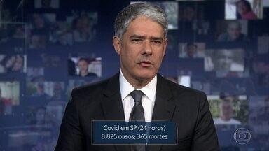 SP registra novos recordes de casos e de mortes pela Covid-19 - Em 24 horas, Estado registra mais 365 mortes; recordes ocorrem no período em que capital e várias regiões estão reabrindo o comércio.