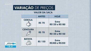 Preço de hortifruti sobe em Manaus durante pandemia - Preço de hortifruti sobe em Manaus durante pandemia