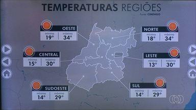 Veja como fica a previsão do tempo para esta quarta-feira (17) em Goiás - Dia amanheceu frio, mas deve esquentar a tarde.