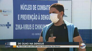Rio Claro tem 929 casos confirmados de dengue - O responsável pelo Centro de Controle de Zoonoses fala sobre as ações de combate ao mosquito Aedes aegypti.