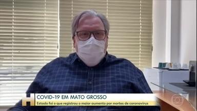 Mato Grosso registra aumento no número de mortes por Covid-19 - Mato Grosso registra aumento no número de mortes por Covid-19