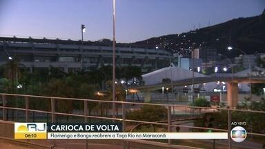 Futebol tem volta marcada para esta quinta (18) com Flamengo X Bangu, no Maracanã - Reunião dos clubes com o prefeito Marcelo Crivela decretou a volta do futebol seguindo os protocolos de segurança. Fluminense e Botafogo são contra a volta agora.