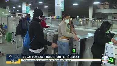 Veja como estava o movimento na Estação Vilarinho nesta quinta-feira - Nossas equipes mostram aglomeração nos ônibus.