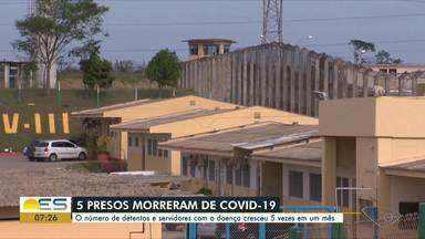 Casos de coronavírus aumentam nos presídios do ES - Já são 261 casos confirmados entre presos e funcionários. Cinco pessoas morreram.