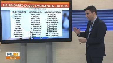 Caixa Econômica divulga calendário de saque emergencial do FGTS - Superintendente da Caixa em Alagoas Sander Farias fala sobre o assunto.