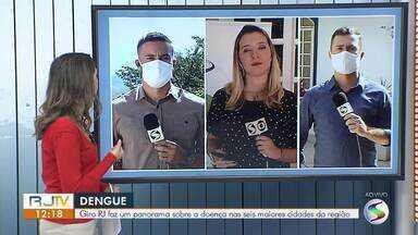 RJ1 mostra panorama sobre a dengue nas seis principais cidades do sul do estado - Números apontam que a doença tem diminuído na região.