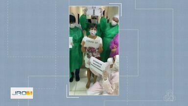 Em Jaru, a dona Nair recebeu alta, depois de ficar 9 dias internada com a Covid-19 - Agora ela faz parte dos 126 jaruenses que venceram a doença.