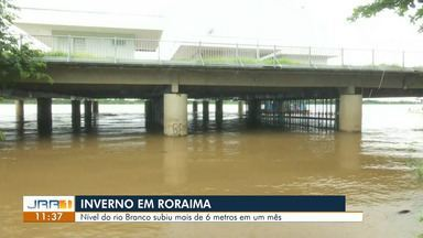 Nível do Rio branco subiu mais de seis metros em um mês - Conforme o diretor executivo da defesa civil estadual, o nível está dentro da normalidade.