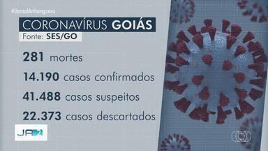 Goiás tem 14.190 pessoas contaminadas e 281 mortes por coronavírus - Estado ainda investiga mais de 40 mil casos suspeitos.