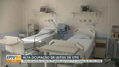 Taxa de ocupação de leitos de UTI na rede municipal de Campinas permanece em 100% - A ocupação nos leitos de UTI no SUS estadual é de 88% e de 76% na rede particular.