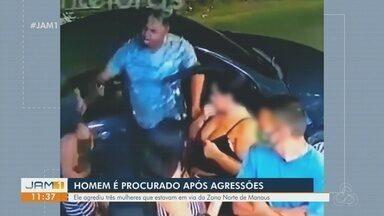 Homem é procurado após agredir mulheres - Vítimas foram a delegacia e prestaram queixa.