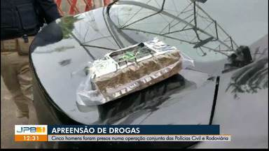 Operação prende suspeitos de tráfico de drogas - Operação foi feita pela Polícia Civil e Polícia Rodoviária Federal da Paraíba.
