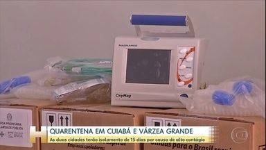 Cuaibá e Varzea Grande terão quarentena por pelo menos mais 15 dias - Medida começa a valer na quinta-feira. As duas cidades são as mais populosas de Mato Grosso e a chance de contágio do novo coronavírus está alta.