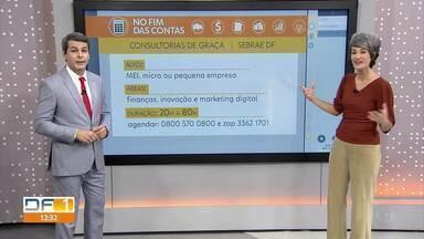 No Fim das Contas, consultoria gratuita do Sebrae-DF ao micro e pequeno empreendedor ajuda - Informações e agendamento pelo 0800 570 0800. A repórter de economia, Mônica Carvalho, mostra a experiência de duas empreendedoras.