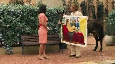Candinho confronta Filomena sobre o quadro pintado por Ernesto - Maria descobre que foi Sandra quem mostrou a pintura de Filomena para Candinho