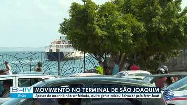 São João: muita gente deixou a capital de ferry boat nesta terça-feira - Confira.