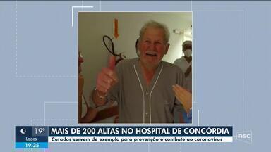 Hospital de Concórdia tem mais de 200 recuperados da Covid-19 - Hospital de Concórdia tem mais de 200 recuperados da Covid-19