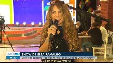 Elba Ramalho se apresenta em live do São João de Campina Grande - Principal atração da véspera de São João.